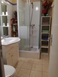 A bathroom at Chambre d'hotes dans mas a Marseille
