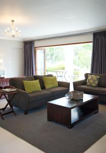 A seating area at Zorgvliet Wines Country Lodge