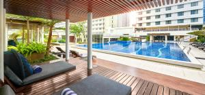 The swimming pool at or close to Pullman Jakarta Indonesia