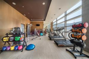 The fitness center and/or fitness facilities at Barceló Malaga