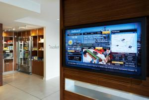 A television and/or entertainment center at Courtyard by Marriott Aberdeen Airport