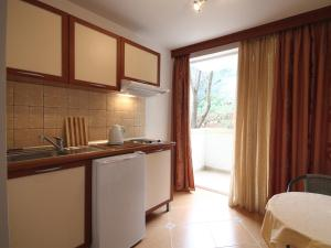 A kitchen or kitchenette at The Franeta Apartments Lux