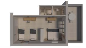 The floor plan of Hotel Delfino