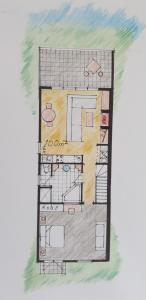 The floor plan of Lakeside Suites