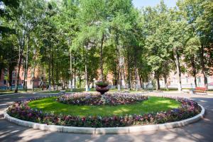 A garden outside Tourist Econom Hotel