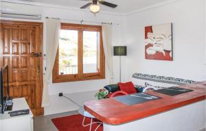 Zona de estar de Apartment Rojales 54