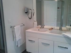 Salle de bains dans l'établissement L'Hôtel Restaurant Du Canard