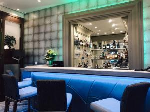 The lounge or bar area at The Royal Yacht