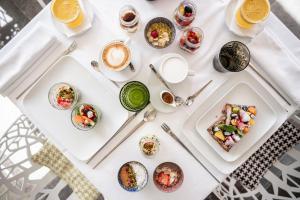 Frühstücksoptionen für Gäste der Unterkunft Designhotel Gius La Residenza
