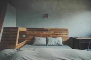 Tempat tidur dalam kamar di kagelow Mt.Fuji Hostel Kawaguchiko