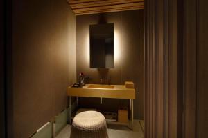A bathroom at TSUKI Tokyo
