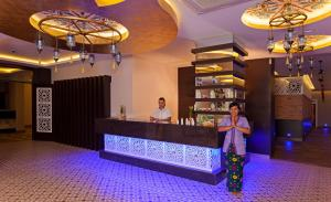 The lobby or reception area at Royal Garden Beach Hotel