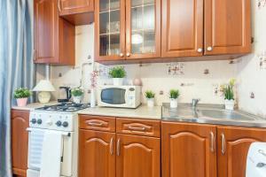 Кухня или мини-кухня в Apartments Orehovyi Bulvar