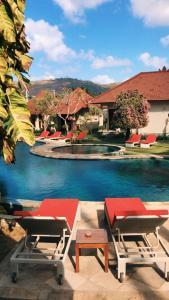 The swimming pool at or near Puri Rinjani Bungalows
