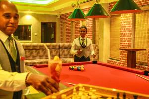 A billiards table at Royal Classic Resort