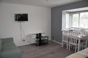 A television and/or entertainment center at 1 Bedroom Apartment Ponders End