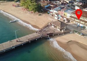 Uma vista aérea de Beira Mar Hostel & Suítes