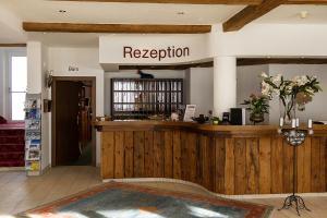 The lobby or reception area at Sporthotel Kühtai