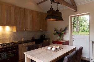 Een keuken of kitchenette bij Bosvilla Kennemerduinen