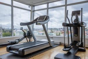 Fitnesscenter och/eller fitnessfaciliteter på Park Inn by Radisson Solna