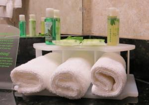 A bathroom at Holiday Inn Express Hotel & Suites Solana Beach-Del Mar, an IHG Hotel