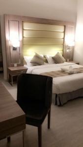 Cama ou camas em um quarto em Violette Chalet