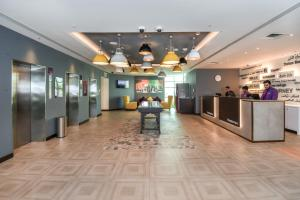 The lobby or reception area at Premier Inn Dubai Silicon Oasis