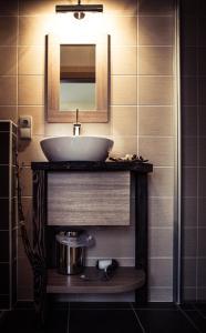 Koupelna v ubytování Penzion Víno Hruška