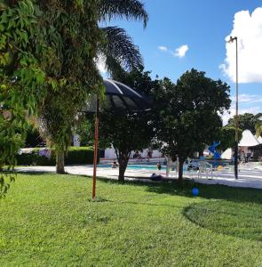 Jardín al aire libre en Hotel Villa Piramidal