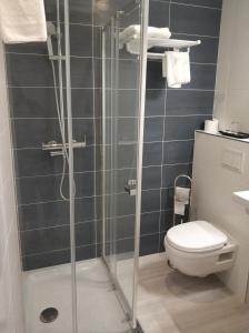 A bathroom at Hotel Abelay