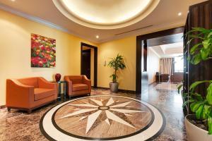 The lobby or reception area at Abidos Hotel Apartment Dubai Land