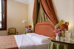 Cama ou camas em um quarto em Hotel Kette
