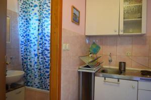 A kitchen or kitchenette at Apartments Jakobina