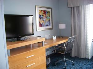 A television and/or entertainment center at Holiday Inn Express Hotel & Suites Rock Springs Green River, an IHG Hotel