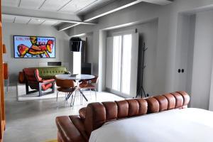 Zona de estar de Raw Culture Art & Lofts Bairro Alto