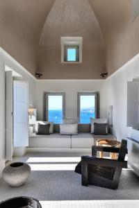 Coin salon dans l'établissement Arota Exclusive Villas