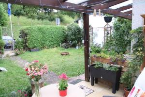 A garden outside Hostel Bad Salzig