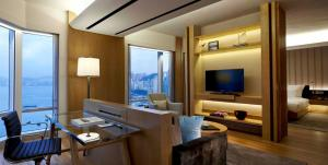 A television and/or entertainment center at Renaissance Hong Kong Harbour View Hotel