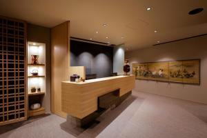 The lobby or reception area at Kaminarimon Ryokan