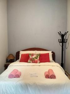 Cama ou camas em um quarto em Rancho Pança