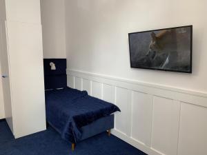 Telewizja i/lub zestaw kina domowego w obiekcie Pokoj Pod Żaglami