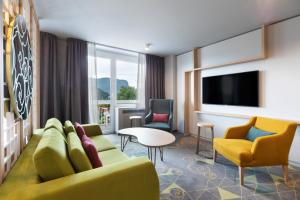 A seating area at Bled Rose Hotel