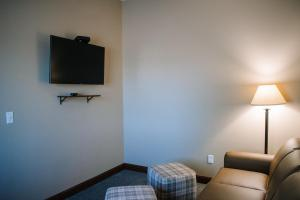 A television and/or entertainment center at The Lodge at Mauston