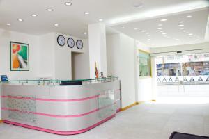 The lobby or reception area at Hotel San Antonio Plaza