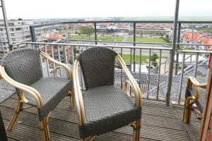 Een balkon of terras bij Hotel De Zeebries Budget