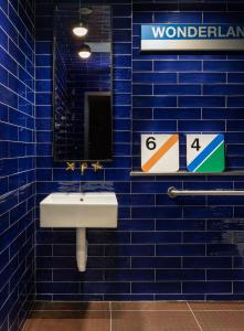 A bathroom at The Revolution Hotel