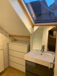 A bathroom at Froissart Studio