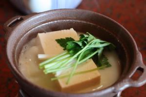 Food at or somewhere near the ryokan