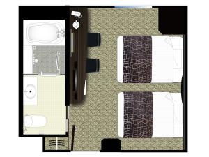 The floor plan of APA Hotel & Resort Midosuji Hommachi Eki Tower