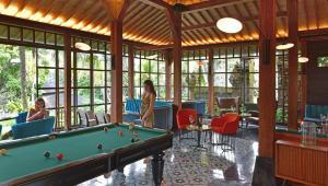 A billiards table at Chapung Sebali